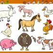 Farm animals set cartoon illustration — Stock Vector #21489851