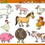 Farm animals set cartoon illustration — Stock Vector #21489851