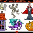 Halloween Cartoon Themes Set — Stock Vector #21584485
