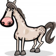 Stockvektor : Horse farm animal cartoon illustration