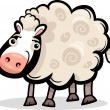 ストックベクタ: Sheep farm animal cartoon illustration