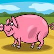 Pig farm animal cartoon illustration — Vector de stock #24162139