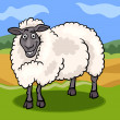 Vector de stock : Sheep farm animal cartoon illustration