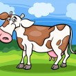 Cow farm animal cartoon illustration — Stock Vector #24210937