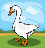 Goose bird farm animal cartoon illustration — Stock Vector