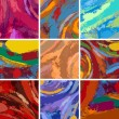 Abstract painting background design set — Stock Vector