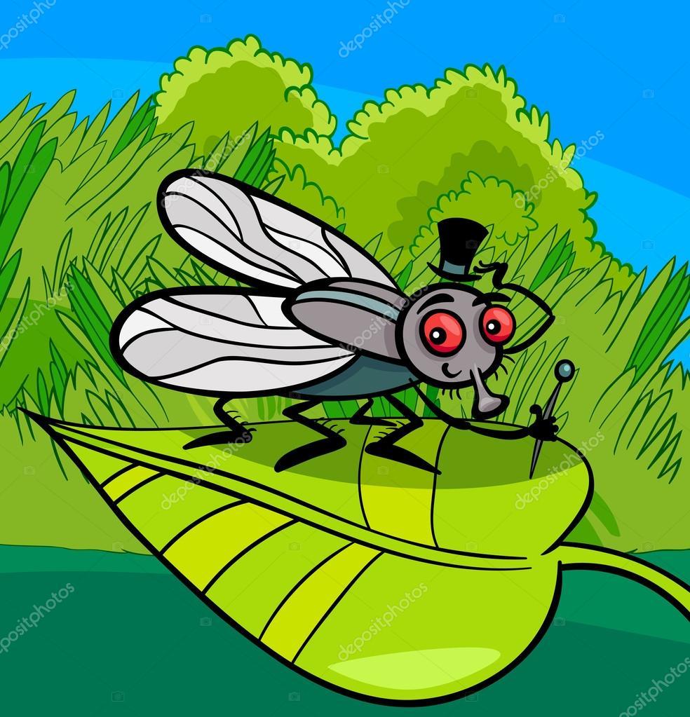 Illustration de dessin anim insectes mouche domestique - Dessin de mouche ...