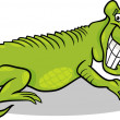 Cartoon illustration of crocodile — Stockvectorbeeld