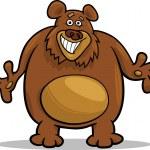Brown bear cartoon illustration — Stock Vector #25297357