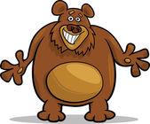 Ilustração dos desenhos animados de urso-pardo — Vetor de Stock