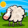 Stock Vector: Sheep farm animal cartoon illustration