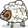 Ram farm animal cartoon illustration — 图库矢量图片 #25452039