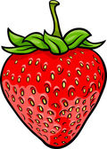 Strawberry fruit cartoon illustration — Stock Vector