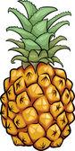Pineapple fruit cartoon illustration — Stock Vector