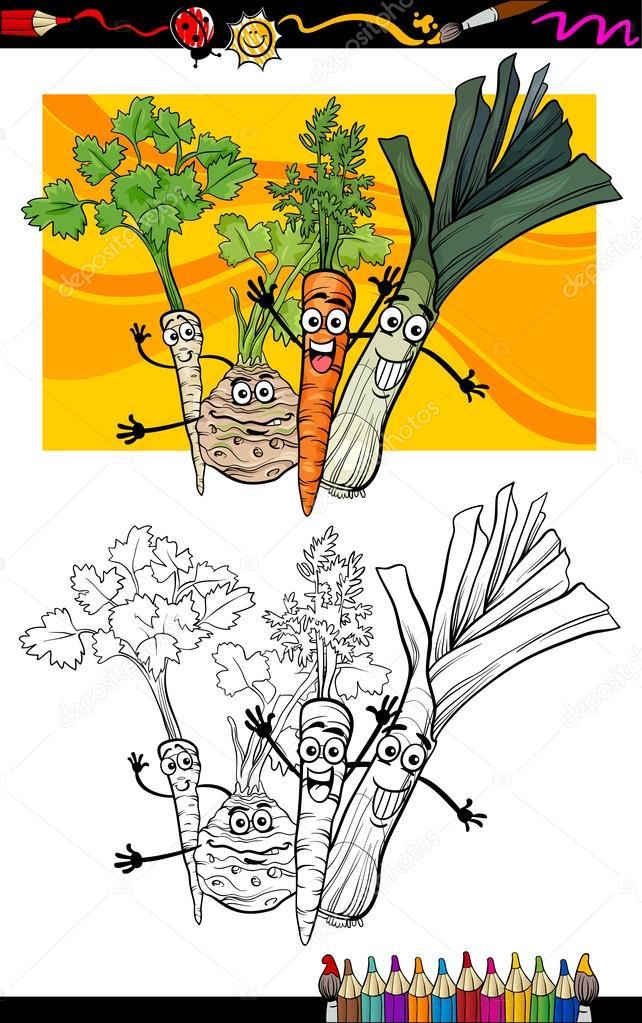 漫画蔬菜组的图画书 — 图库矢量图片 #26269299