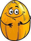 Engraçado melão fruta cartoon ilustração — Vetor de Stock