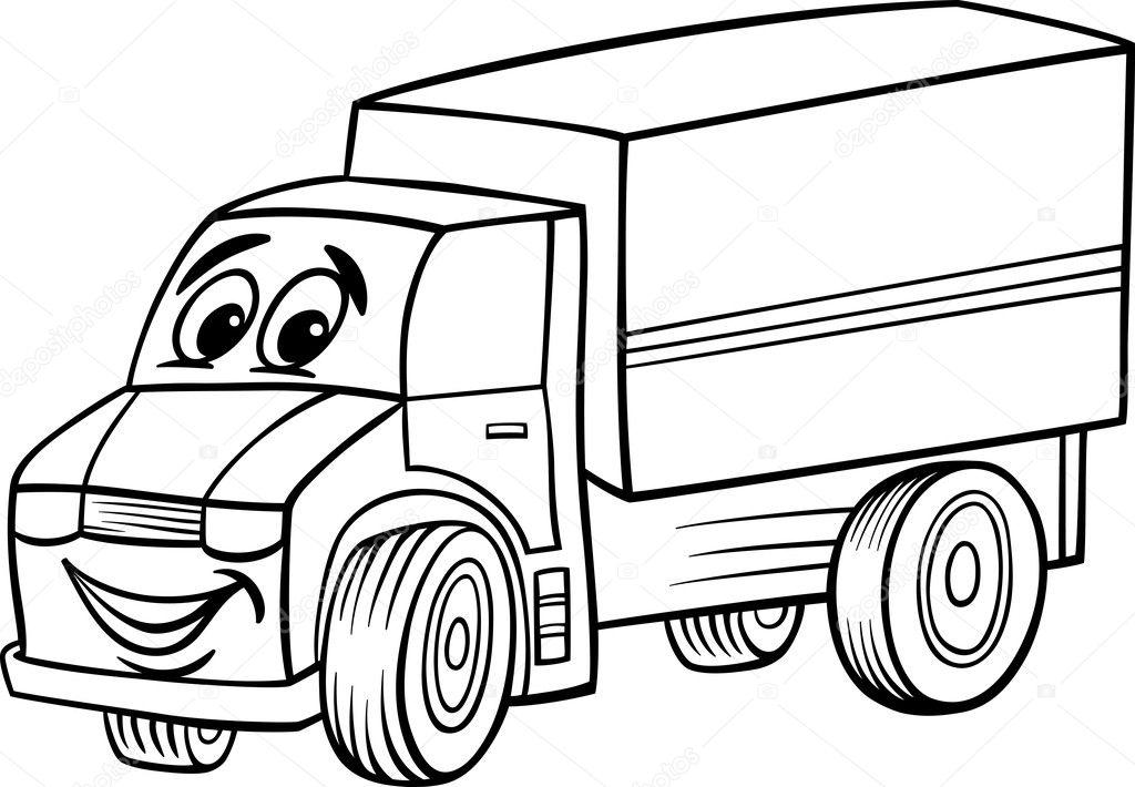 Black Book Car Prices >> Funny truck cartoon for coloring book — Stock Vector © izakowski #26790009