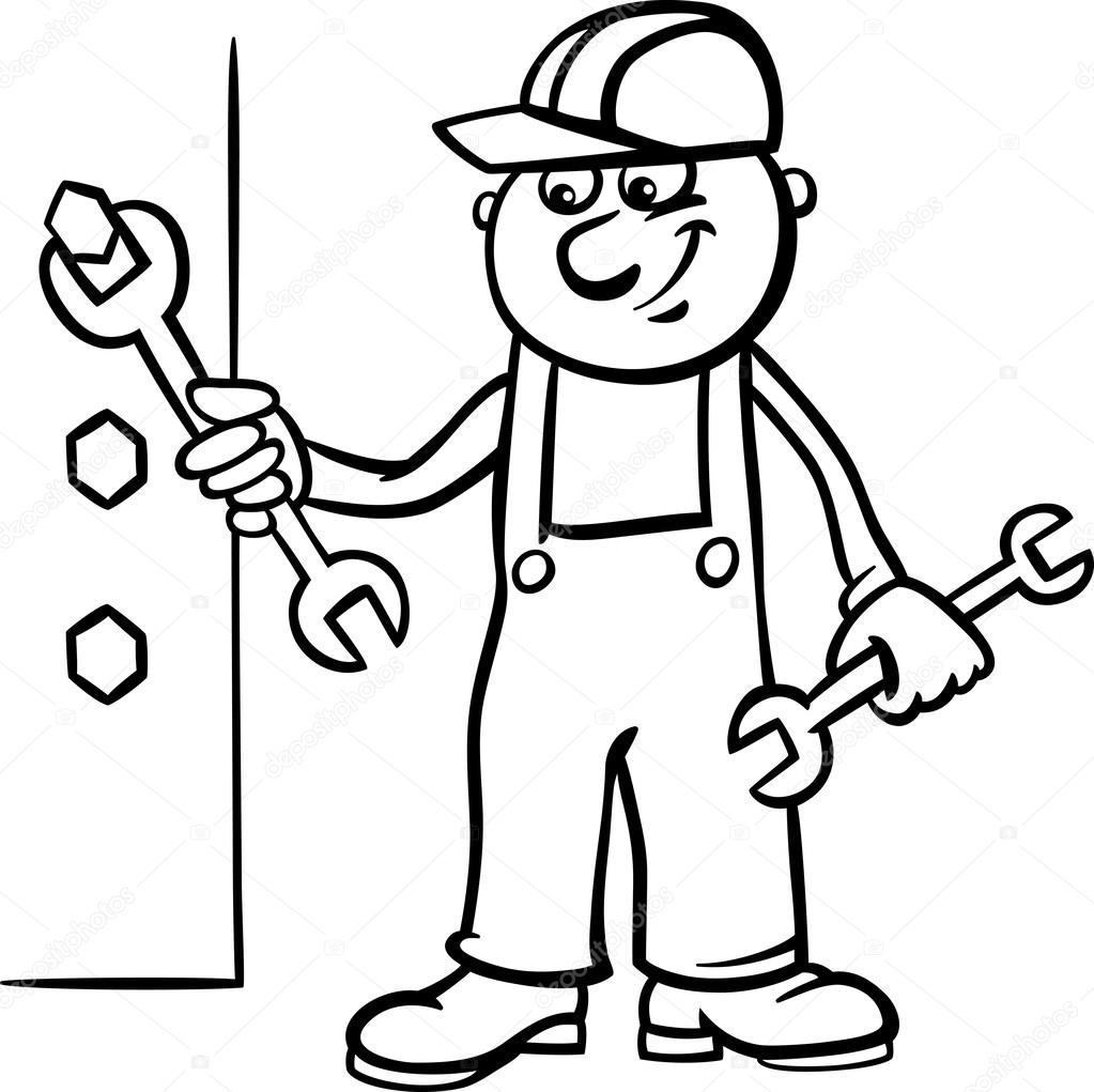 construction worker hat coloring clipart best - Construction Worker Coloring Page