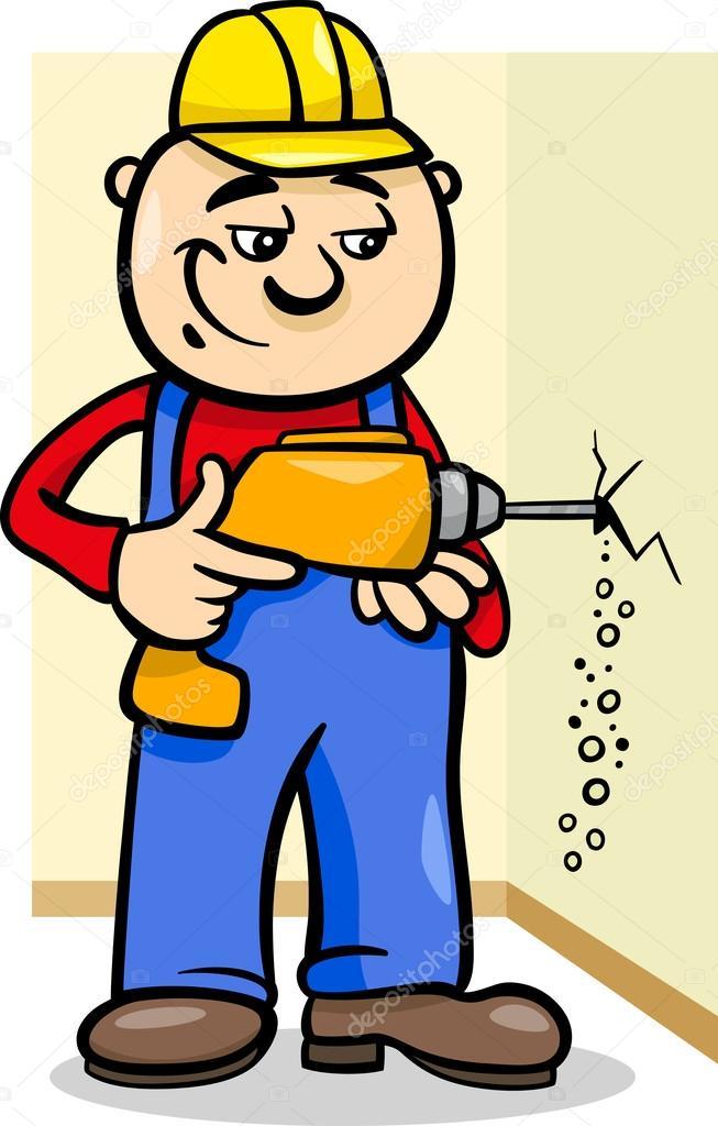 рисунок работающий человек