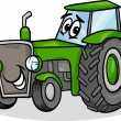 Stock Vector: Tractor character cartoon illustration
