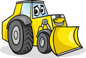 Bulldozer character cartoon illustration — Stock Vector