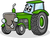 Traktor-Charakter-Cartoon-illustration — Stockvektor