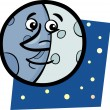 Stock Vector: Funny moon cartoon illustration