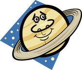 有趣的土星星球卡通插图 — 图库矢量图片