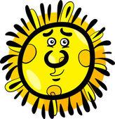 面白い太陽漫画イラスト — ストックベクタ