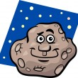 Funny asteroid cartoon illustration — Stock Vector