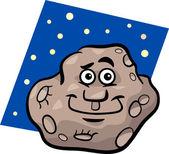 Rolig asteroid tecknad bild — Stockvektor