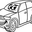 Постер, плакат: Suv car cartoon coloring page