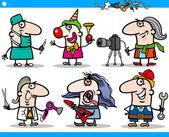 Cartoon occupations characters set — Stock Vector