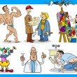 Cartoon occupations characters set — Stockvector #27875095