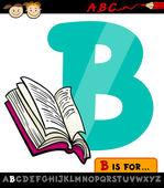 Letra b con la ilustración del libro de la historieta — Vector de stock