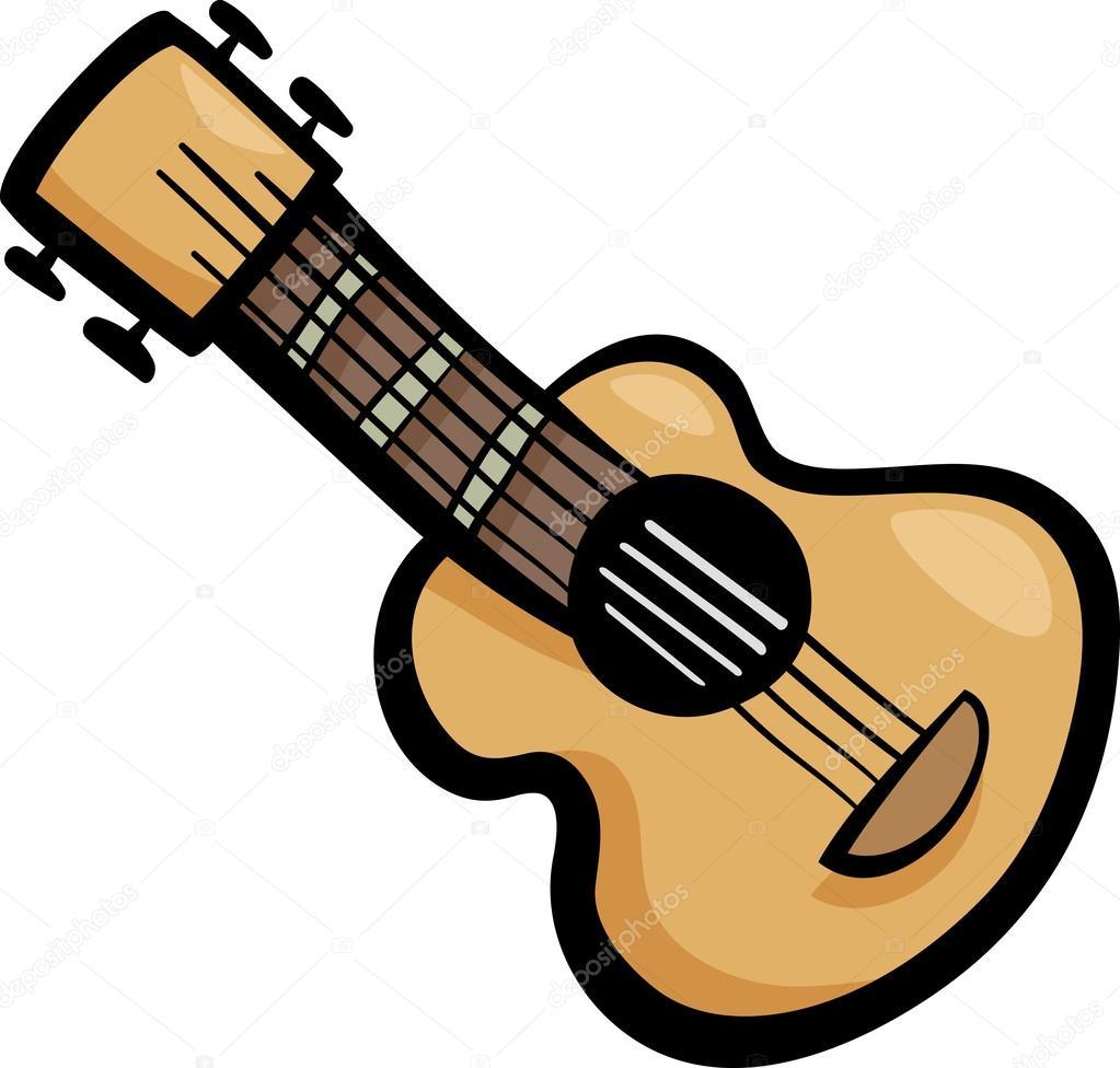 Gitarr clip art tecknad bild — Stock Vektor © izakowski #29551501