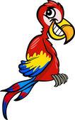 Papoušek klip umění kreslený obrázek — Stock vektor