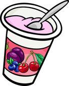 Yogurt clip art cartoon illustration — Stock Vector