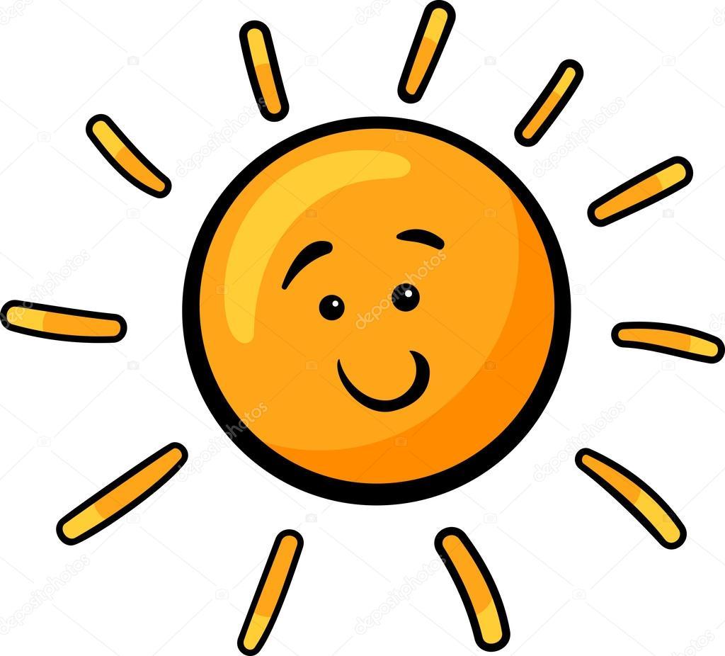 Ilustração de desenhos animados do sol clip art — Vetor de Stock ...