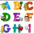 Education Cartoon Alphabet Letters for Kids — Stock Vector #30000733