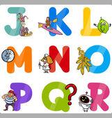 образование буквы алфавита мультфильм для детей — Cтоковый вектор
