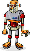 Cartoon robot or droid illustration — Stock Vector