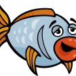 Funny fish cartoon illustration — Stock Vector