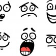 Постер, плакат: Emoticon or emotions set cartoon illustration