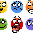 Emoticon or emotions set cartoon illustration — Stock Vector