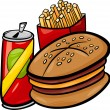 Fast food cartoon clip art — Stock Vector #31694269