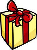 Christmas or birthday gift clip art — Stock Vector