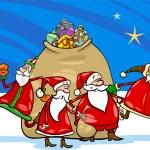 Santa claus with presents cartoon — Stock Vector #32522131