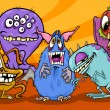 cartoon monsters illustratie groep — Stockvector  #32971659