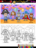 Kids ball for coloring book — Stock Vector